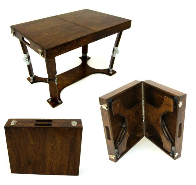 Custom Crafted Folding Coffee Table Spiderlegs