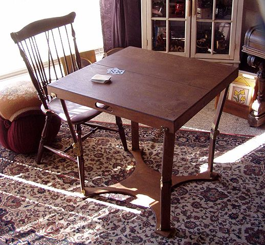 Superb Custom Crafted Folding Dining/Card Table