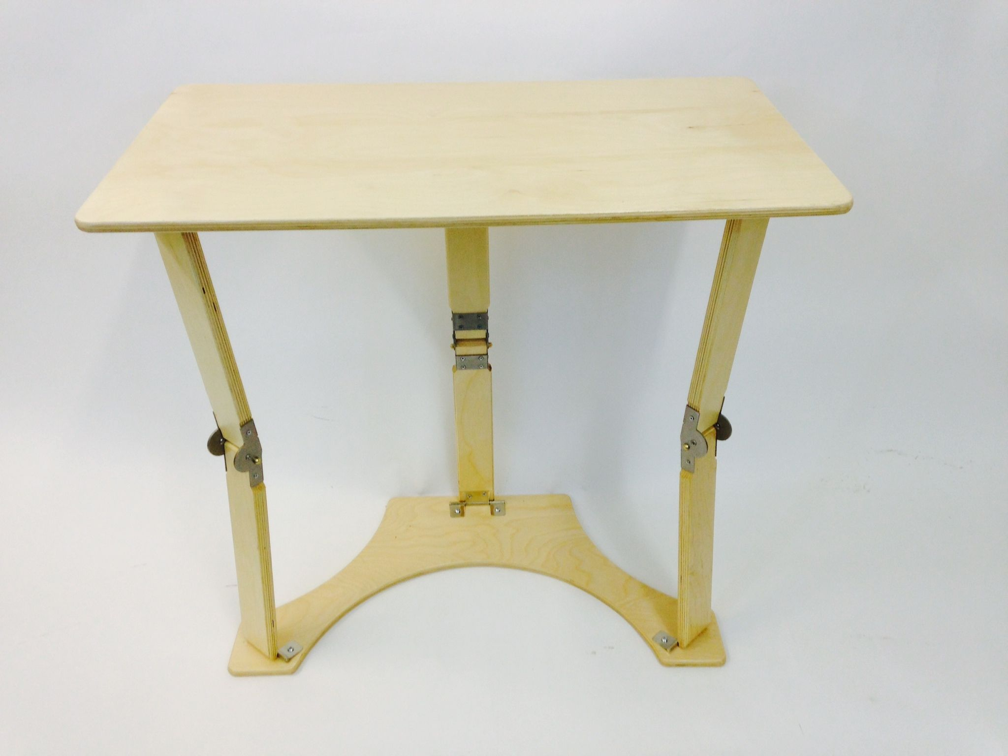 Natural Birch Folding Laptop Desk Tray Table ← Spiderlegs