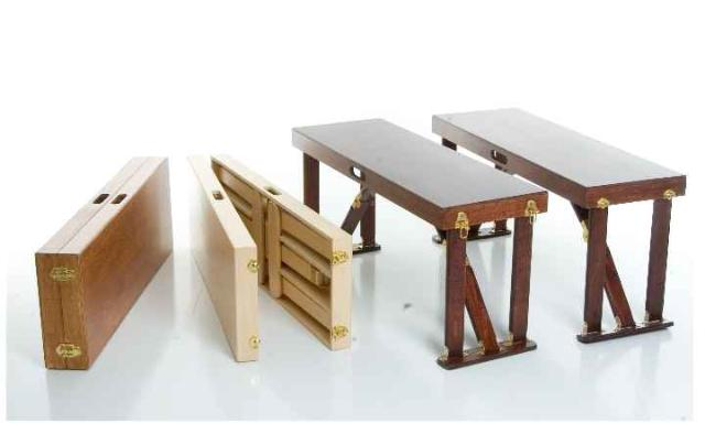 Hand Crafted Folding Benches Spiderlegs